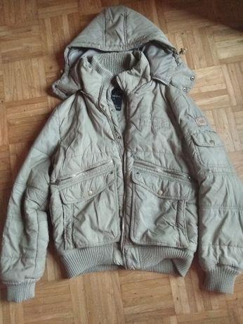ciemnozielona kurtka zimowa - rozmiar 170cm
