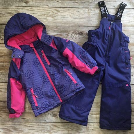 Зимний костюм детский, куртка и полукомбинезон для девочек