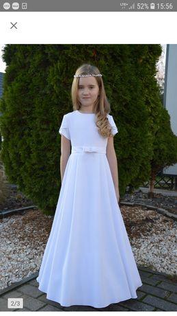 Sukienka, alba komunijna, bolerko  r. 140