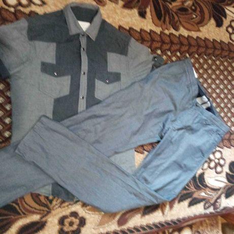 Брюки штаны рубашка  тенниска шведка набор комплект 168 170