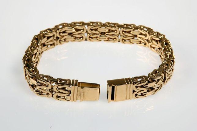 Złota Bransoleta Splot Królewski 585