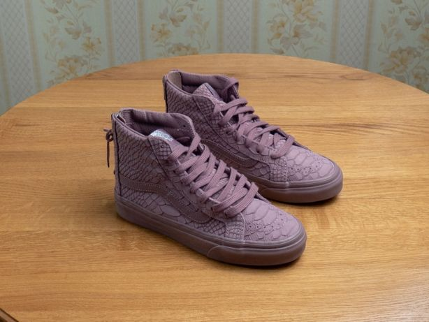 Женская, подростковая обувь Vans sk8-Hi Slim Zip DX. 21.5cм. Кеды