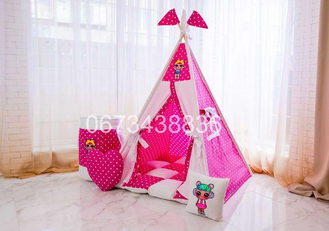 НОВИНКА! Палатка Вигвам «LOL» Розовый. VIGVAM ELIT