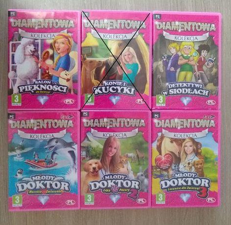 Diamentowa kolekcja . 5 gier PC dla dzieci. Młody doktor. Konie. Salon