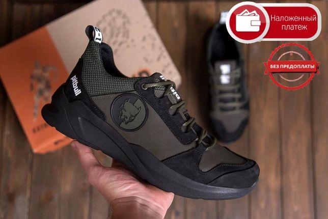 Новые крутые Мужские кожаные кроссовки РіtbuІІ ОІіvе Без предоплаты