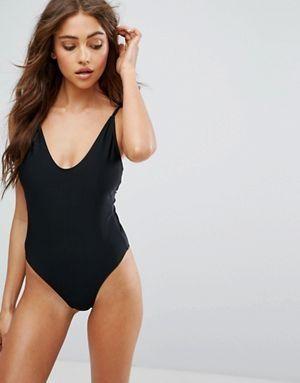 Купальник Boohoo High Leg Swimsuit