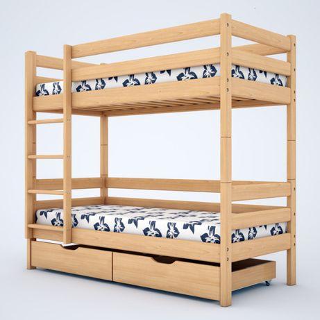 """Двухъярусная кровать трансформер """"Дуэт"""" с ольхи. Есть акция."""