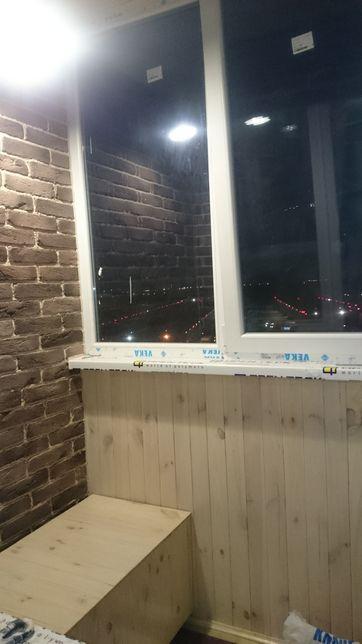 Установка металлопластиковых конструкций,балконы под ключ