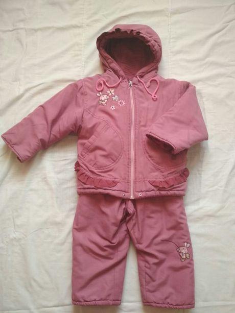 Комбинезон весна-осень куртка штаны на девочку на р.92