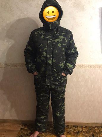 Продам тёплый камуфляжный костюм рыбака, охотника или военного