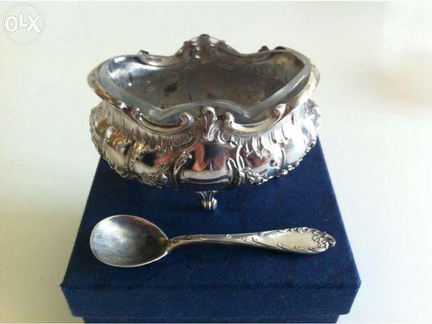 Par de Mostardeiras em prata minerva