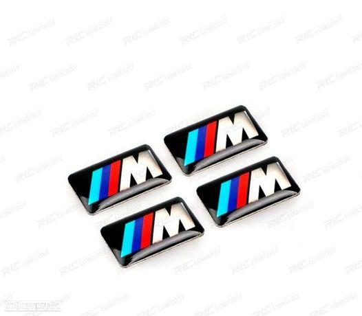 KIT / PACK 4 SÍMBOLOS / EMBLEMAS AUTOCOLANTES / BMW