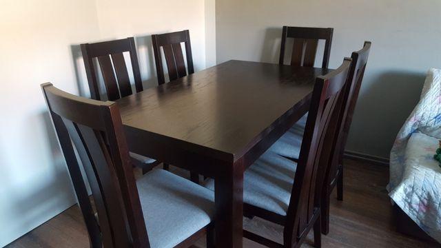Stół drewniany rozkladany wenge 80/140 do 190