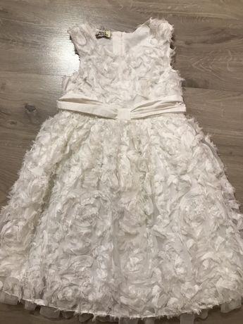 Красивое белое 3д платье, можно на роль снежинки, лебедя