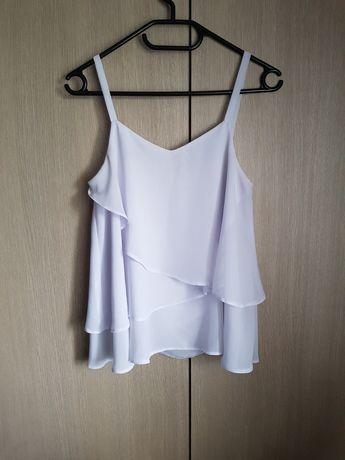 Biała zwiewna bluzka 36 S
