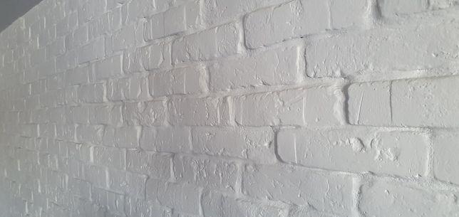 Cegła płytki gipsowe biała postarzana z gipsu 1,5 m2