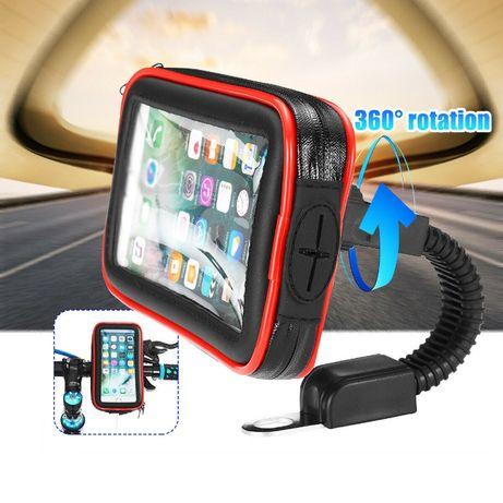 Etui uchwyt motocyklowy na telefon pod lusterko -rozmiar L,XL