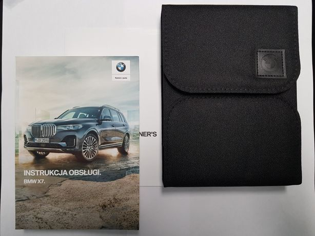 Nowa oryginalna Instrukcja obsługi BMW X7 w języku polskim z etui BMW