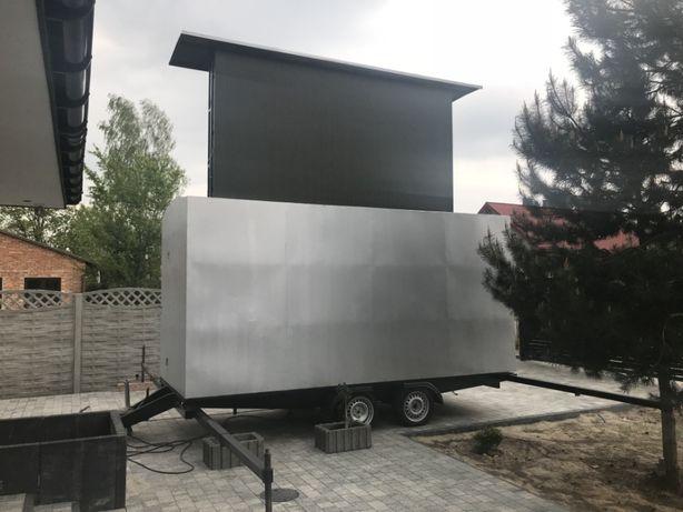 MOBILNY TELEBIM ekran 10m2 LED 400V obrotowy