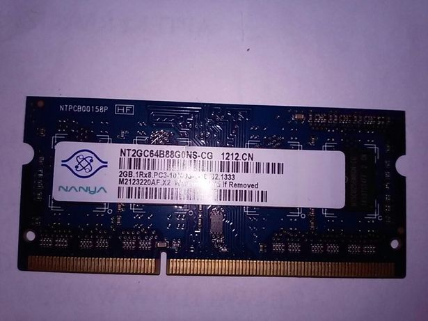 Pamięć Ram DDR3 2GB laptop