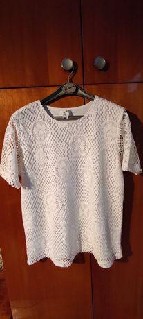 NOWA biała ażurowa bluzeczka, r. XL/XXL
