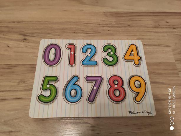 Drewniane zabawki układanki / puzzle 3 sztuki