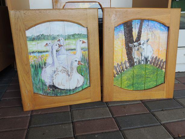Piękne malowane obrazy w dębowej ramie tylko 65 zł sztuka