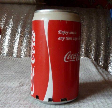 Портативная колонка банка Coca-Cola с MP3 и FM
