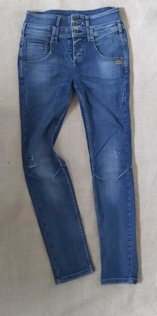 модные фирменные джинсы с высоким поясом высокая посадка талия 28 р.