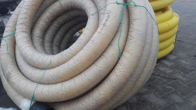 Rura drenarska fi125 w fabrycznej otulinie do melioracji odwodnienia