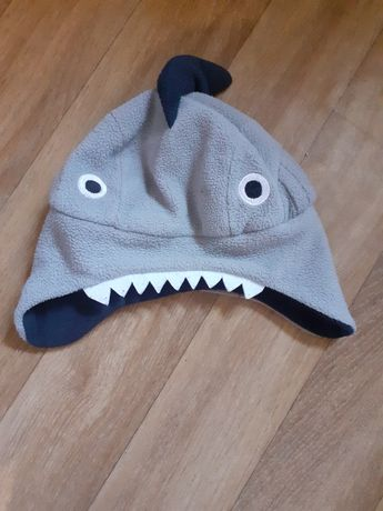 Шапка акула флис