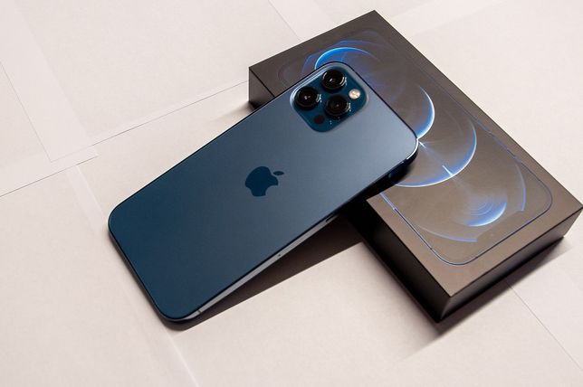 IPHONE 12 PRO MAX 128GB pacific blue, na gwarancji, STAN IDEALNY