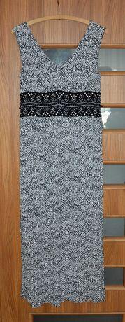 Sukienka letnia długa firmy L.O.G.G. H&M w rozmiarze 40