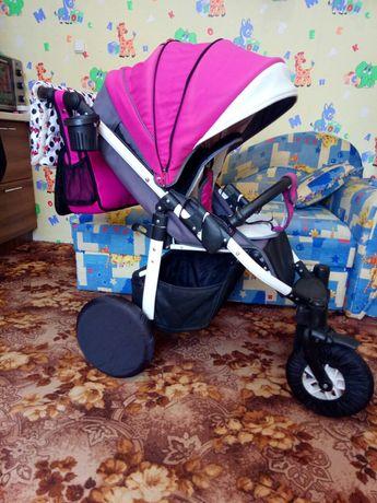Коляска Camarelo EOS + подарки (сумка, чехлы на колёса, муфта).