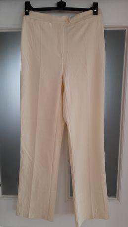 Eleganckie spodnie, kremowe, klasyczny krój NOWE!