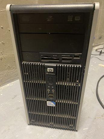 Системный блок HP с материнской платой, винчестером, RAM.