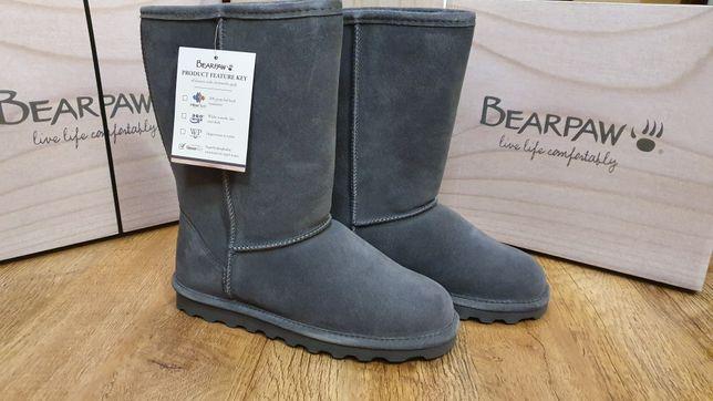 Сапоги замшевые натуральные Угги Bearpaw Elle Tall 35 р. 23 см зимние