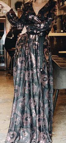 Чёрное Нарядное платье в пол