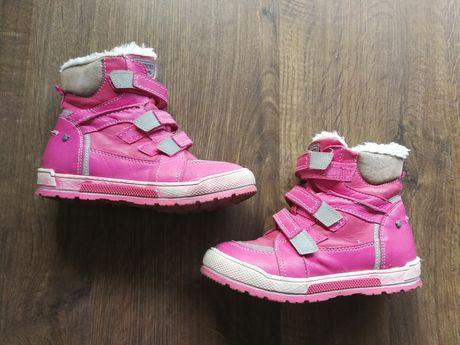 Buty dziewczęce, ocieplane, skórzane Lasocki r. 30