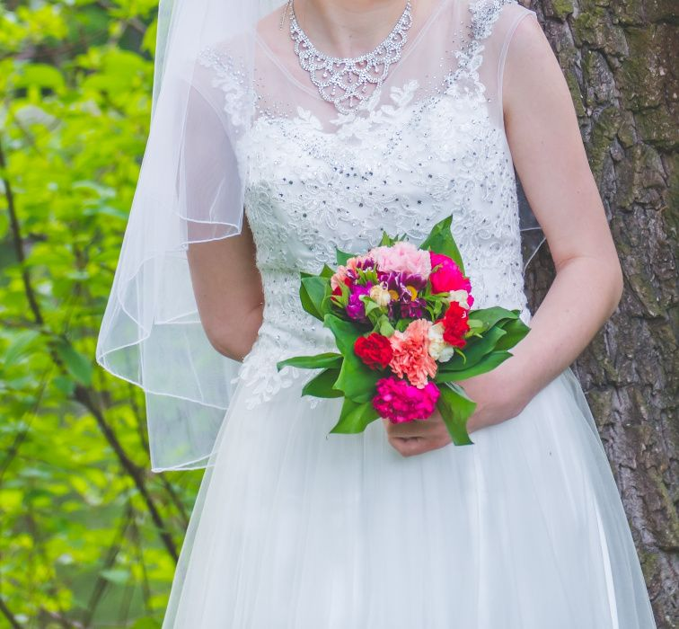 suknia ślubna długa, rozmiar M