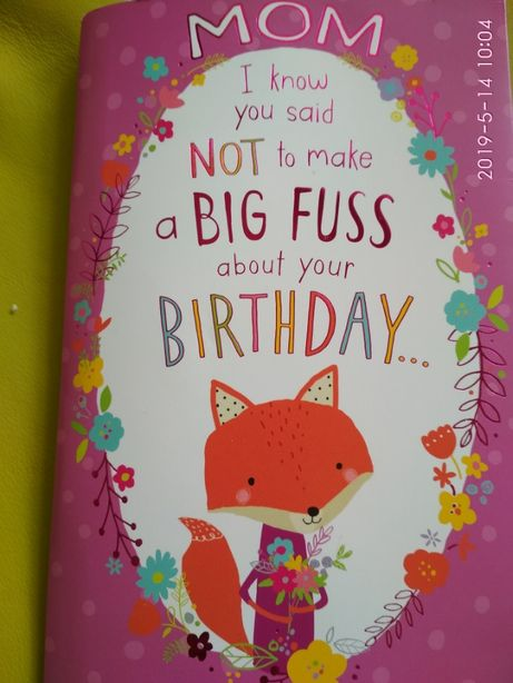 Играющая открытка на день рождения маме