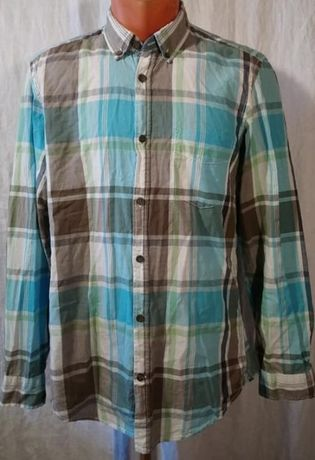 Рубашка в клетку H&M коттон на рост 164-170 см