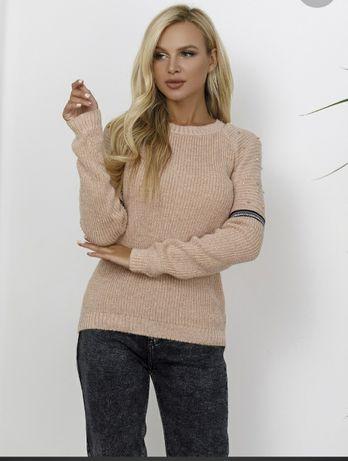 Новинка! Новый стильный свитер/кофта с бусинами и люрексом р. 44 (S-M)