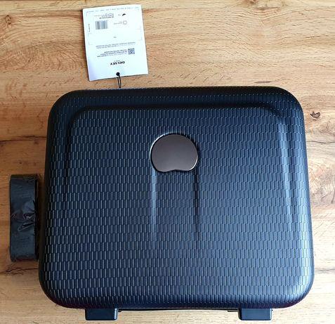 Nowa czarna torba podróżna podręczna doczepiana Delsey Paris