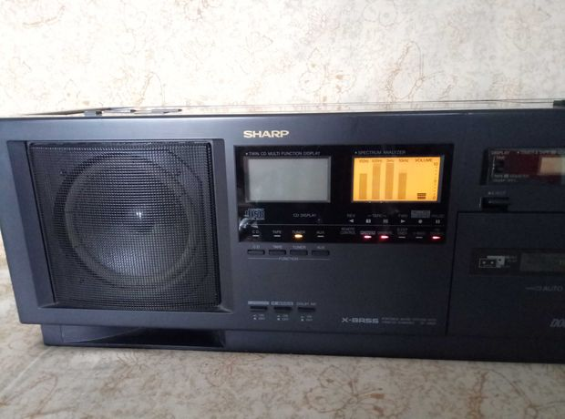 Audio system przenośny (Boombox Retro:-) SHARP ZC-D830H – Okazja !