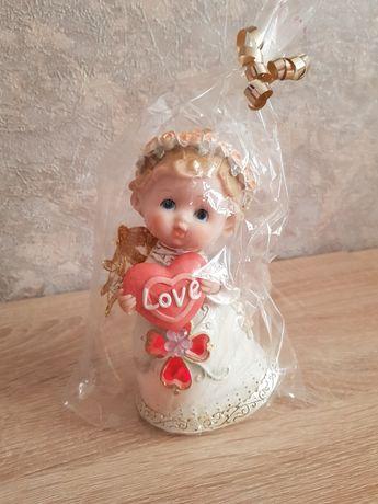 Статуэтка ангела с подсветкой, сердце, Love