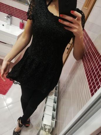 Nowa bluzka H&M baskinka czarna koronkowa koronka ażurowa komunia 38 m