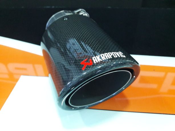 Ponteira Akrapovic em carbono 90mm