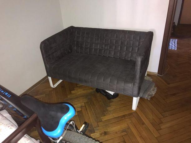 IKEA KNOPPARP Sofa 2-osobowa, Knisa jasnoszary