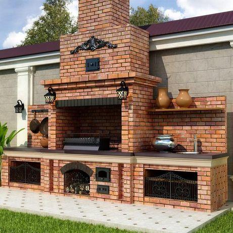 Печь помпейка, барбекю, камин, мангал, беседка